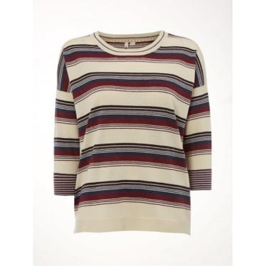 Womens Mosaic Stripe Jumper in Multi