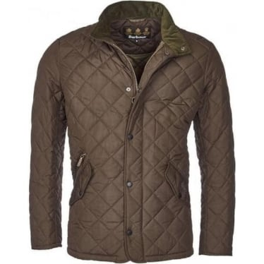 Mens Chelsea Sports Quilt Jacket in Olive