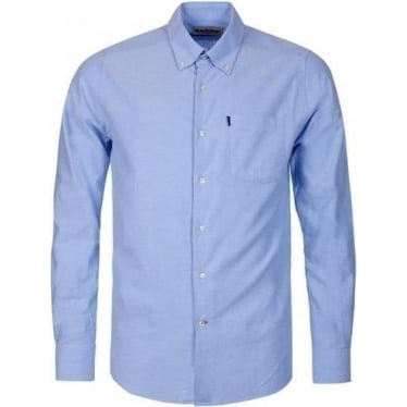 Mens Stanley Tailored Fit Shirt in Blue