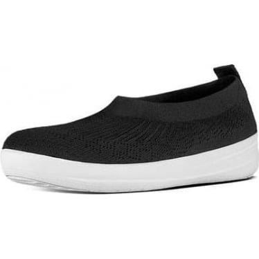 Womens Uberknit Slip-on Ballerina in Black