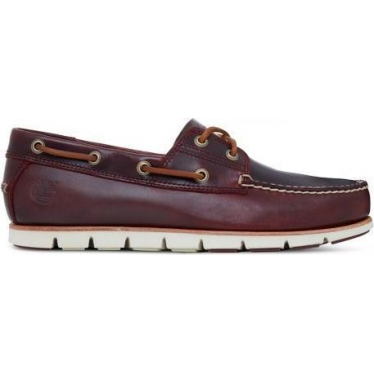 Mens Tidelands Boat Shoe in Redwood Brando