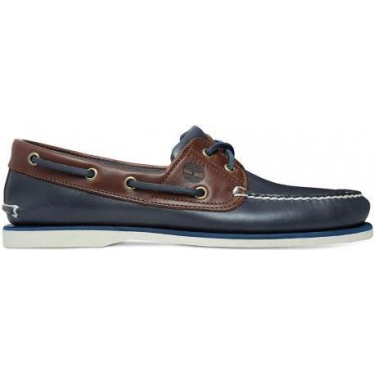 Mens Classic Boat Shoe in Vintage Indigo and Potting Soil Two-Tone