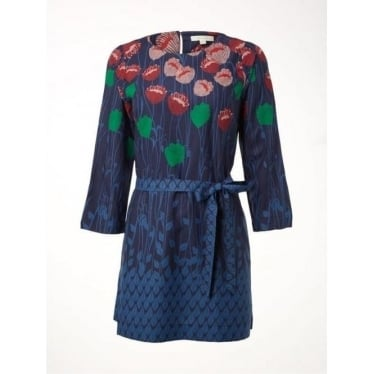 Womens Embrace Tunic in Wallpaper Blue