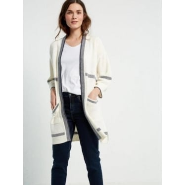 Womens Castaway Longline Cardi in Natural