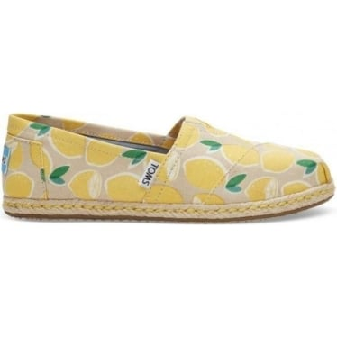 Womens Yellow Lemons Espadrilles