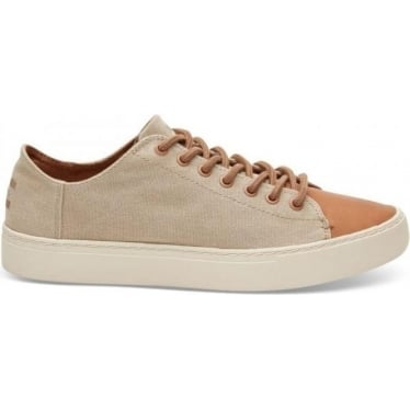 Mens Lenox Trainer in Taupe Wash