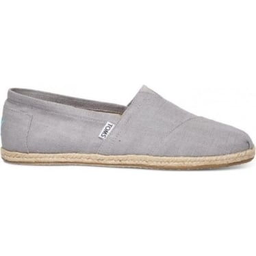 Mens Linen Rope Sole Canvas in Grey