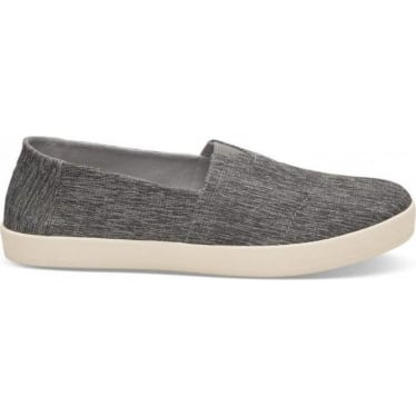 Avalon Mens Space Dye Slip-Ons in Forged Iron Grey
