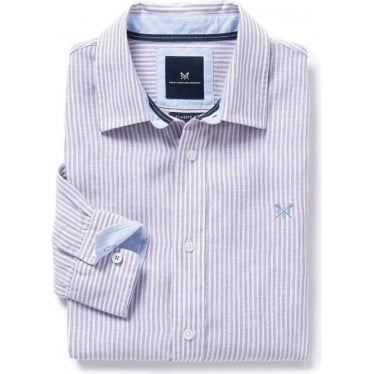 Mens Fernside Classic Fit Shirt in Parma Violet/White