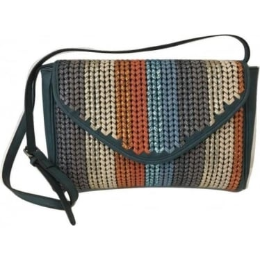 Womens Nall Shoulder Purse in Blue Surf