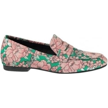 Womens Nima Loafer in Green Pink