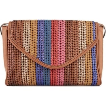 Womens Nall Medium Purse in Brown/Blue/Red