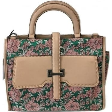 Womens Nijman Small Shopper in Green Pink