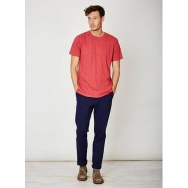 Mens Lorenzo Hemp Jersey Top in Brick