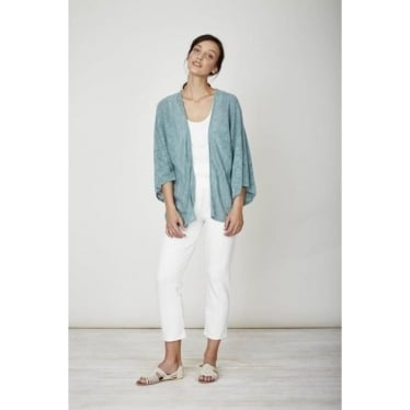 Womens Sedona Cardi in Nile Blue