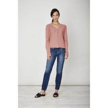Womens Saskia Cropped Cardi in Terracotta