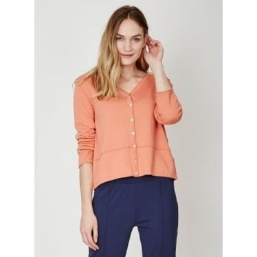 Womens Elisse Cardi in Soft Orange