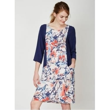 Womens Clemence Dress in Flower Splash