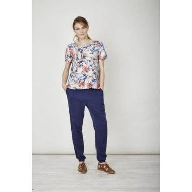 Womens Clemence Top in Flower Splash