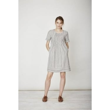 Womens Hettie Hemp Dress in Yarn Dye Stripe