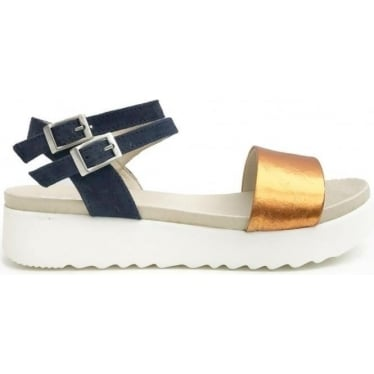 Womens Nash Sandal in Rusty/Navy