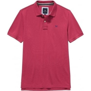 Classic Pique Polo in Washed Cherry