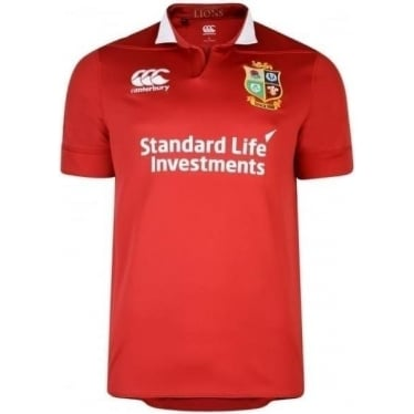 Mens British & Irish Lions Vaposhield Matchday Pro Jersey in Tango Red