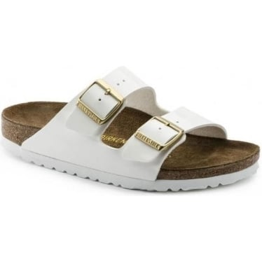 Womens Arizona in White Patent Narrow Fit