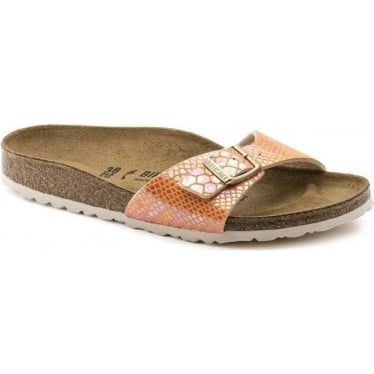 Womens Madrid Birko-Flor in Shiny Snake Orange