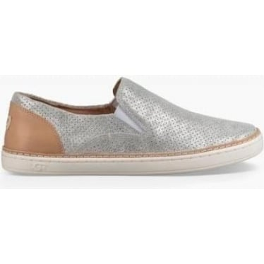 Womens Adley Perf Stardust Slip On in Silver