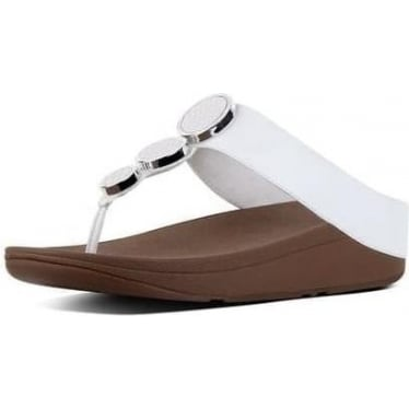 Womens Halo Toe-Thong Sandals in Urban White