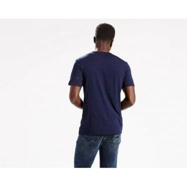 Mens Sunset Pocket Tee in Saturated Indigo