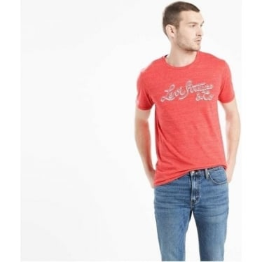 Mens Wordmark Graphic Tee in Shadow Cherry Bomb Tri Blend