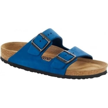 Womens Arizona Nubuck Leather Soft Footbed in blue