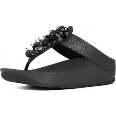 Womens Boogaloo Leather Toe-Thong sandals in Black