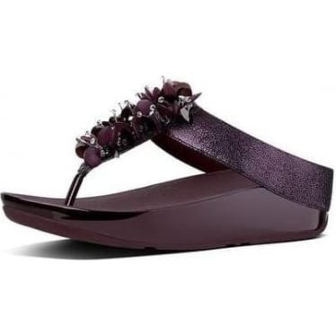Womens Boogaloo Toe-Thong Sandals in Deep Plum