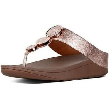 Womens Halo Toe-Thong Sandals in Rose Gold