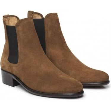 Womens Chelsea Boot in Tan Suede