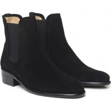 Womens Chelsea Boot in Black Suede