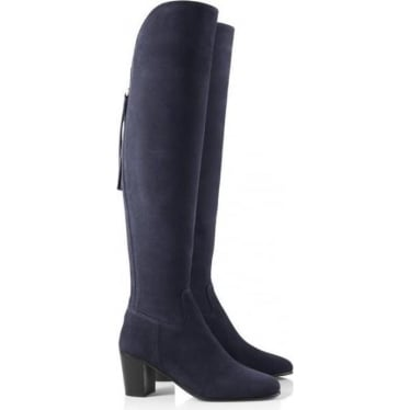 Womens The Amira Boot in Navy Suede
