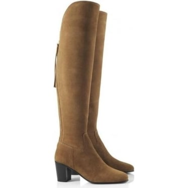 Womens The Amira Boot in Tan Suede