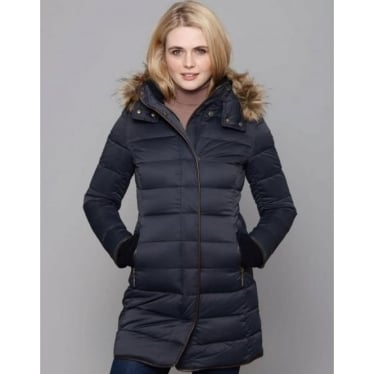 Womens Mayfair Down Coat in Navy