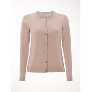 Womens Forest Crew Cardi in Ditsy Pink Plain