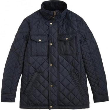 Mens Holmwood Biker Jacket in Marine Navy