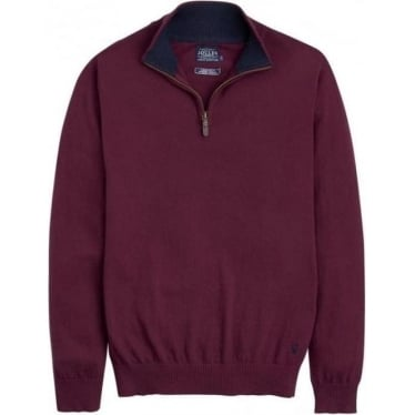 Joules Mens Hillside Jumper in Wine
