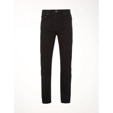 Mens Rigid Gin Slim Jeans in Black Rinse