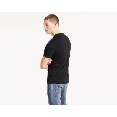 Mens Sunset Pocket Tee in Jet Black