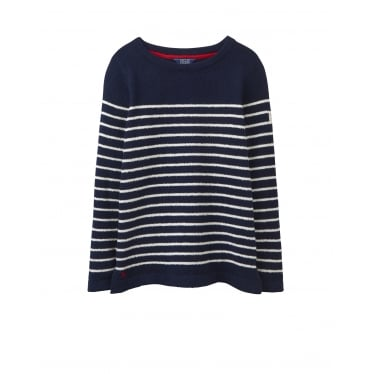 Womens Seaham Chenille Jumper in French Navy
