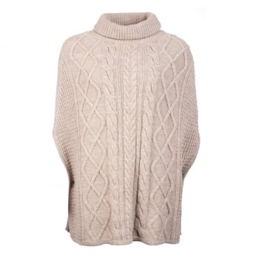 Womens Court Cape in Oatmeal
