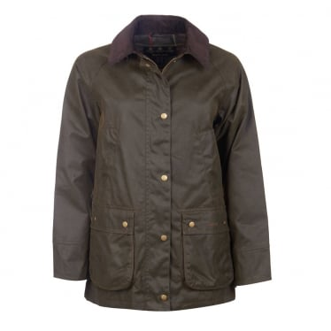 Womens Acorn Wax Jacket in Olive